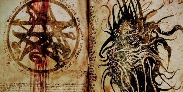 Artwork inspirado en el Necronomicon. (El Espejo Gótico)