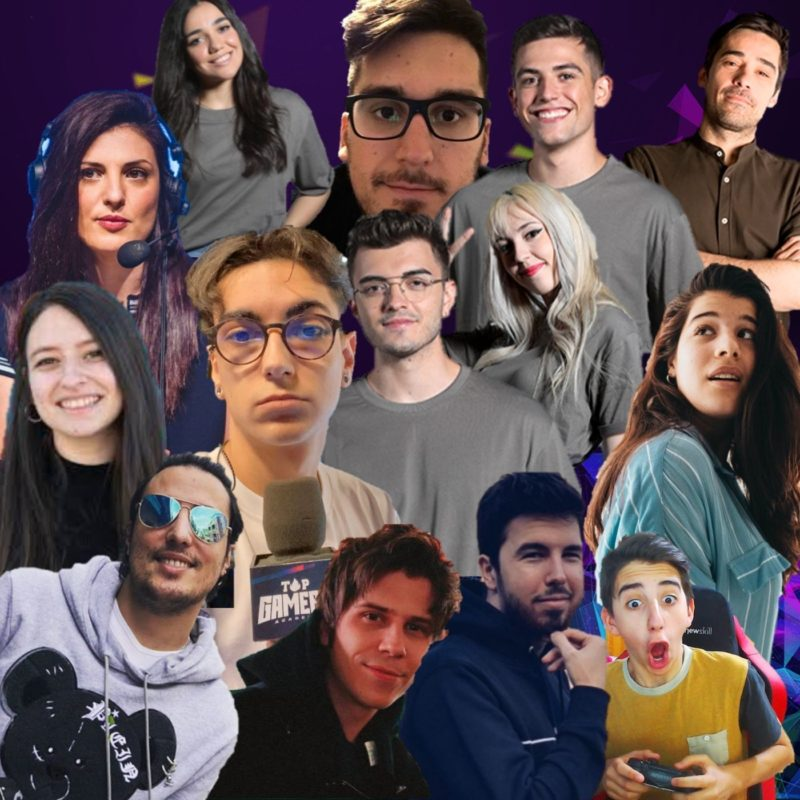 Collague personajes Top Gamers