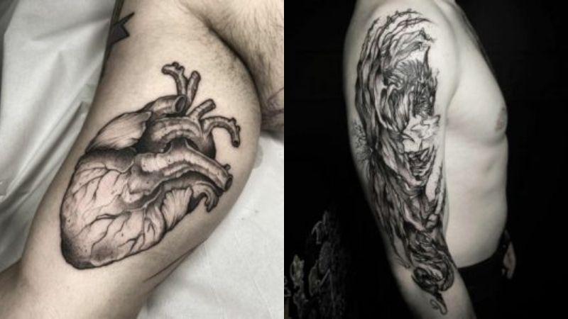 A la izquierda, un tatuaje de Bárbara. A la derecha, uno de Mario.