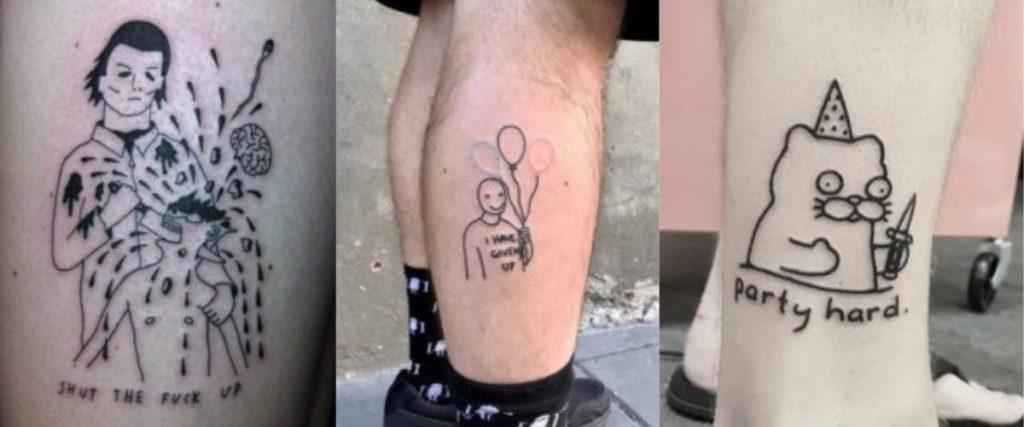 Tatuajes de estilo ignorant. (Pinterest)