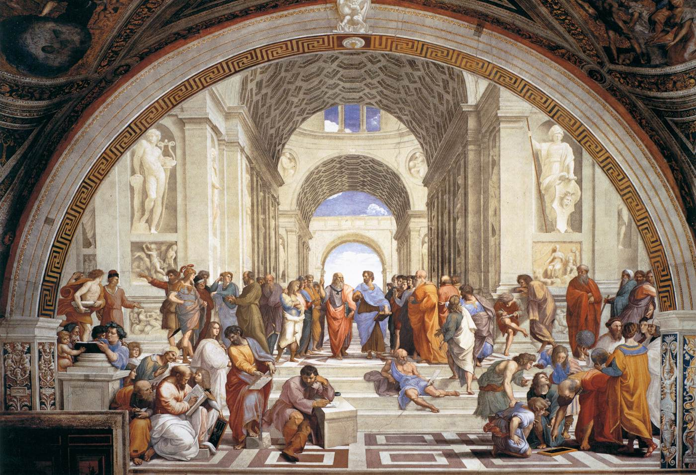 La escuela de Atenas (Rafael Sanzio, 1510-1512).