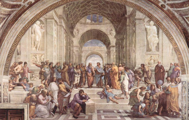 La escuela de Atenas de Rafael (1510-1511)