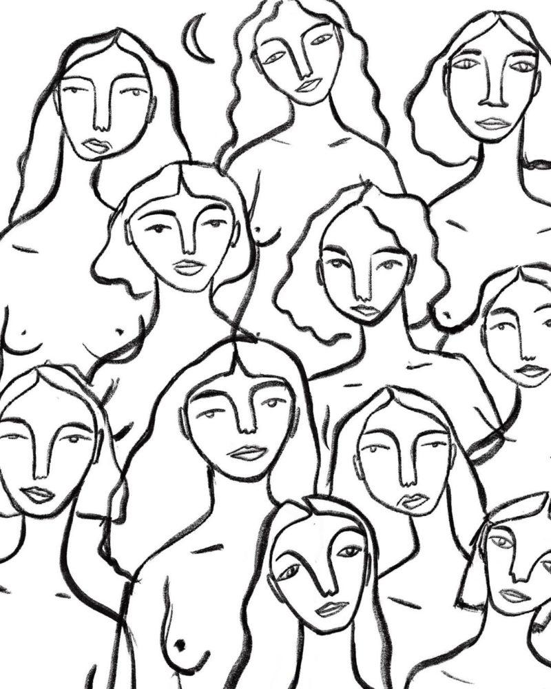 "Print ""Mujeres"" de Blasina Rocher"